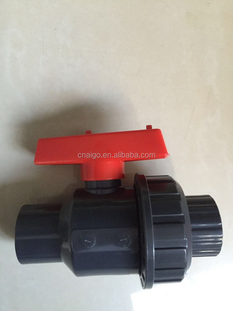PVC Double Union Glue Plastic Ball Valve in AG company