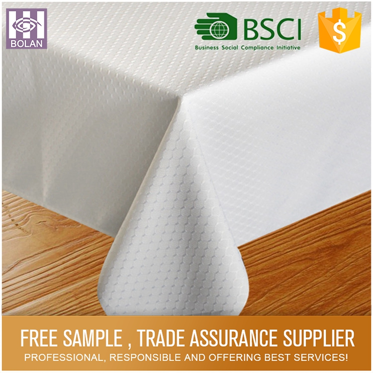 Water proof 100% polyester water and oil proofing tablecloth used