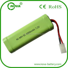 sc 7.2v 4000mah ni-mh rechargeable battery pack