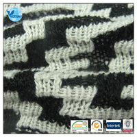 China One Belt and One Road 100% Polyester Coarse Needle Chenille Jacquard Fabric for Sweater