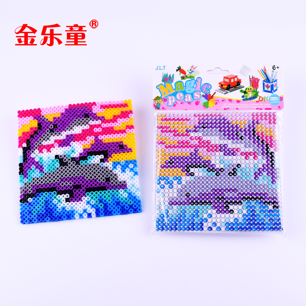 Dolphin family intelligence educational perler beads 5mm 82 colors EVA kids DIY magic beads
