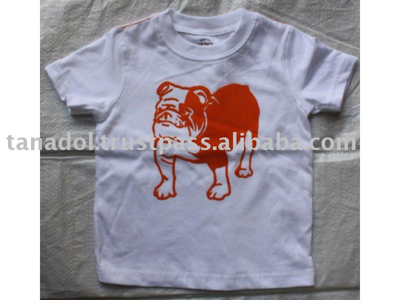 Big Boys short slv t-shirt,screen dog graphic,childrens wear,children clothing,new order