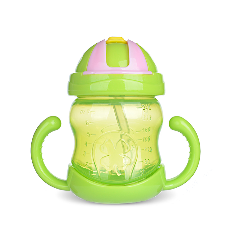 wholesale 240ml BPA free food grade PP baby training sippy cup