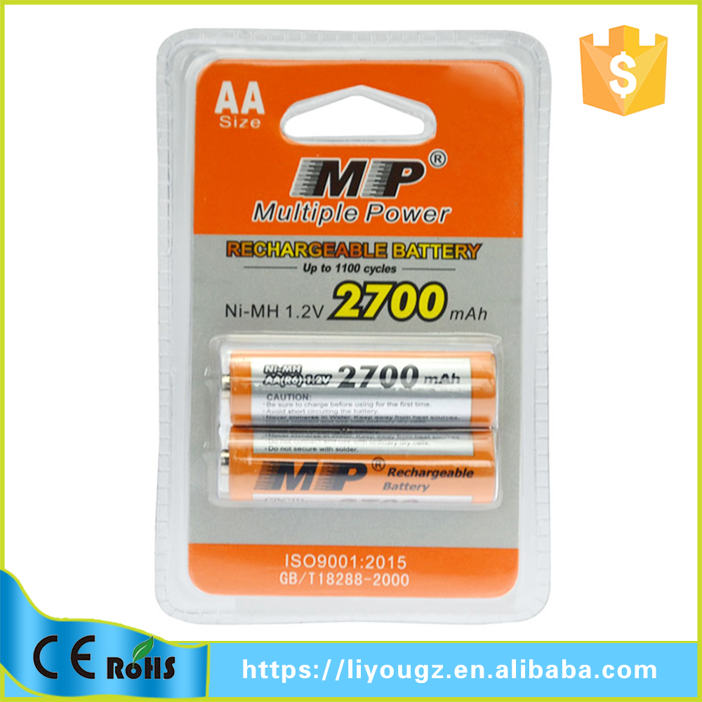 Newest !! MP Brand Wholeslae Price NI-MH 2700mAh 1.2v Car Battery Brand Names