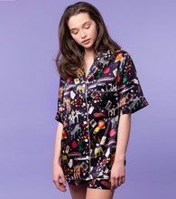 Custom Printing Fashion Secret Treasures Women's Silk Pyjamas Sleepwear