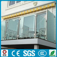 stainless steel balcony/stair railings with tempered glass for modern outdoor decoration