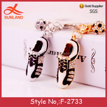 F-2733 new fashion gift football shoes keychain 3d sneaker keychain lady bag charm