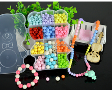 toys DIY beaded children educational toys interaction green acrylic paragraph Bear Sui