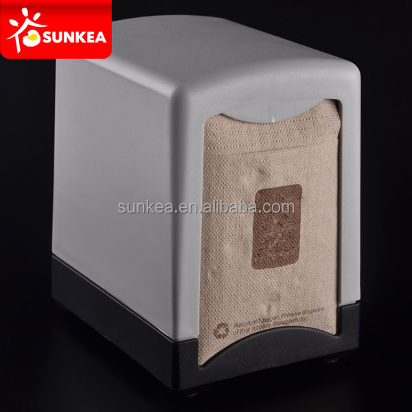 Double side use plastic paper napkin holder