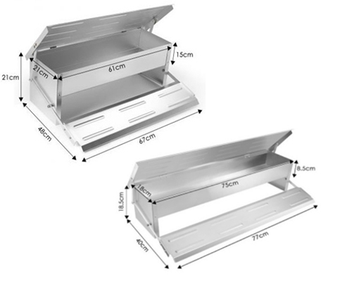 8.2L Durable rustproof aluminium automatic treadle feeders