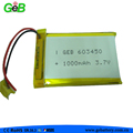 rechargeable polymer lithium battery 603450 3.7V 1000mAh for bluetooth headset