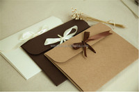 24*18*0.7cm bow Kraft paper pocket bag Kerchief Handkerchief Silk scarf packing boxes card gift Envelope box