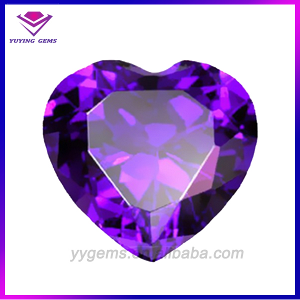 Top Quality Jewelry Provence Amethyst CZ Heart 5*5mm
