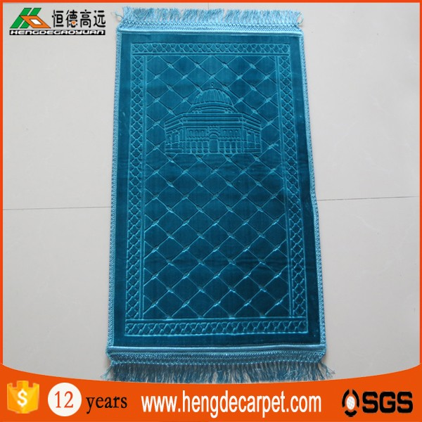 traditional non slip masjid mosque prayer carpet with foam backing