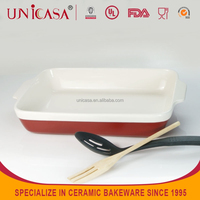 UNICASA Ceramic microwave steak grill plate and dishes