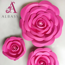 Wholesale newest design for wedding decoration backdrop paper flower wall decoration