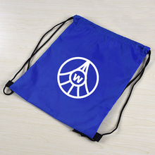polyester or nylon drawstring bags with logo printed
