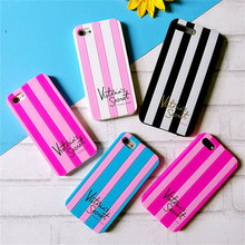 Wholesale Cell Phone Case Stripe Silicone Phone Case for iphone