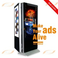 "indoor 42"" 47"" 55"" 65"" 70"" Double sided lcd digital signage for advertising"