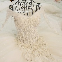 LS45880 long sleeves taobao organza alibaba modest wedding gowns cathedral train wedding ball gowns