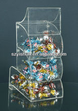 Customized acrylic candy box acrlic candy bin round acrylic candy bin