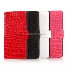 Crocodile Leather Wallet Case For Samsung Galaxy Note 4