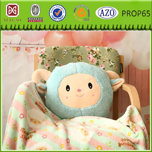 animal shape blanket&pillow/Multifunction nap mats pillow and blanket