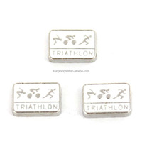 Triathlete Swim Bike Run Triathlon Sports Floating Charms Locket Charm