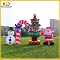 Hot selling Christmas motif decoration, Snowman and Santa Claus inflatable model