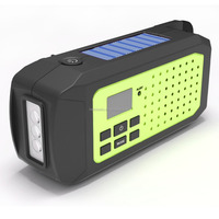 Survival Kits Essential Solar Wind Up LED Flashlight AM/FM/NOAA Weather Band Radio With 2200mAh rechargeable battery