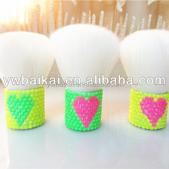 Coloful crystal makeup brush professional colourful cosmetic brush