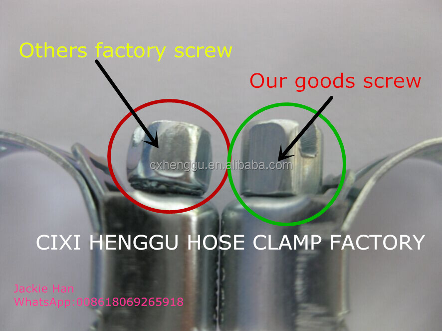 3/4 Taiwan hose clamp WK WS Colour box hose clamps gas hose clamp