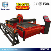 China UNICH homemade industrial plasma cutting machine for metal