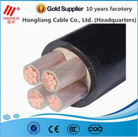 Low Smoke Zero Halogen 4 Cores 0.6/1kV Copper Conductor PVC Insulated PVC Sheath Low Voltage Power Cable for energy supply