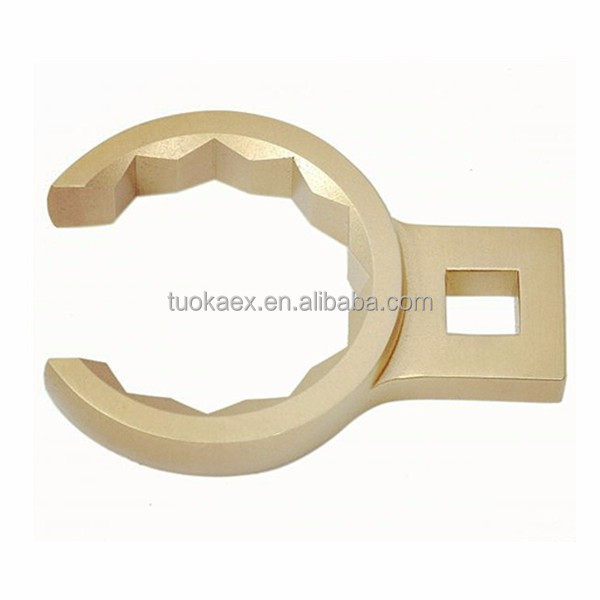 Non sparking alumionum bronze alloy crow foot wrench