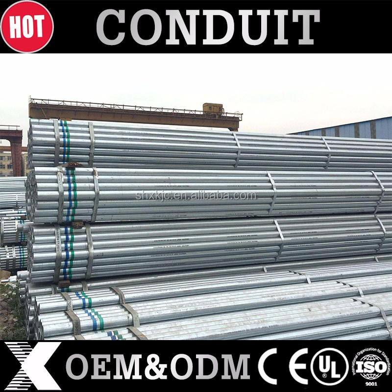 manufacturer metallic Galvanized Steel EMT Electrical Conduit cable pipe
