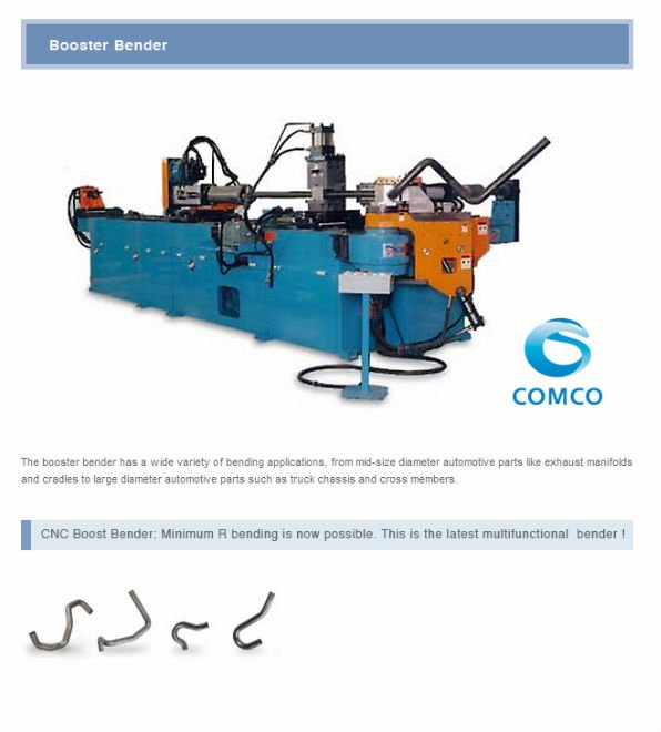 COMCO - CNC Booster bending machine