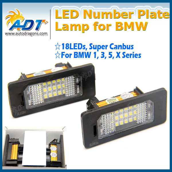 2017 Promotion For BMW 5 Series E39,E60,E84,E60N,E61,E61N, F10,F11 LED License Plate Lamp