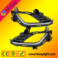 Hot sale supply !!! Auto accessories for Hyundai Elantra 2013-2015 car led drl fog light
