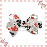 Fashion print dots dog hair bows-Dog bow-Pet hairbow