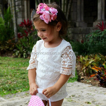 Summer Princess Girls White Lace Romper 0-24M Newborn Baby Girls One Pieces Toddler Kids Jumpsuit Sunsuit