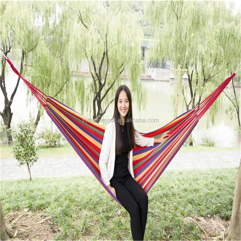 Recyclable canvas indoor hanging chair swing hammock