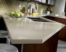 Easy to clean non-toxic acrylic solid surface countertop