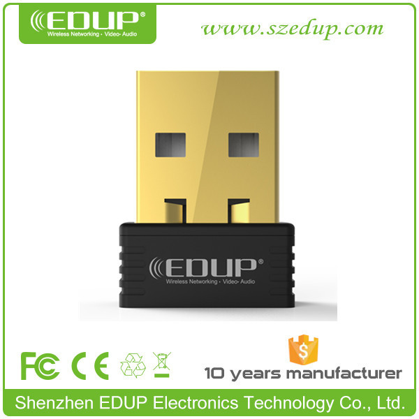 EDUP EP-N8553 chipset MTK 7601 150Mbps mini gold-plating usb wifi dongle