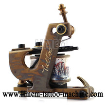 New Design Handmade Custom Tattoo Machines 10 Wrap Coils Gun Shader