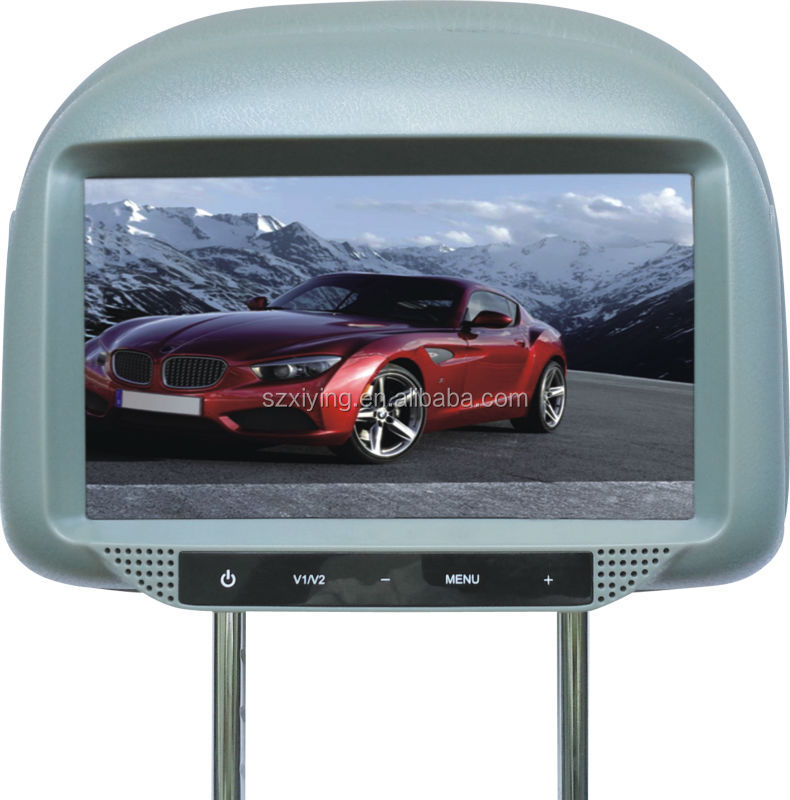 china car headrest LCD monitor motorized lcd car monitor with TV