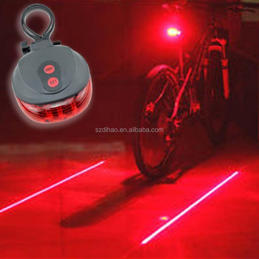 DIHAO New Bicycle Accessories Rear Light Silver Skull Cycling Bike Bicycle Laser Rear Tail Light 2LED 7 Modes Lamp Flash Bicycle