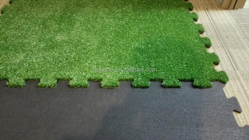 Interlocking artificial grass tiles floor mats buy cheap interlocking floor mats - Interlocking deck tiles on grass ...