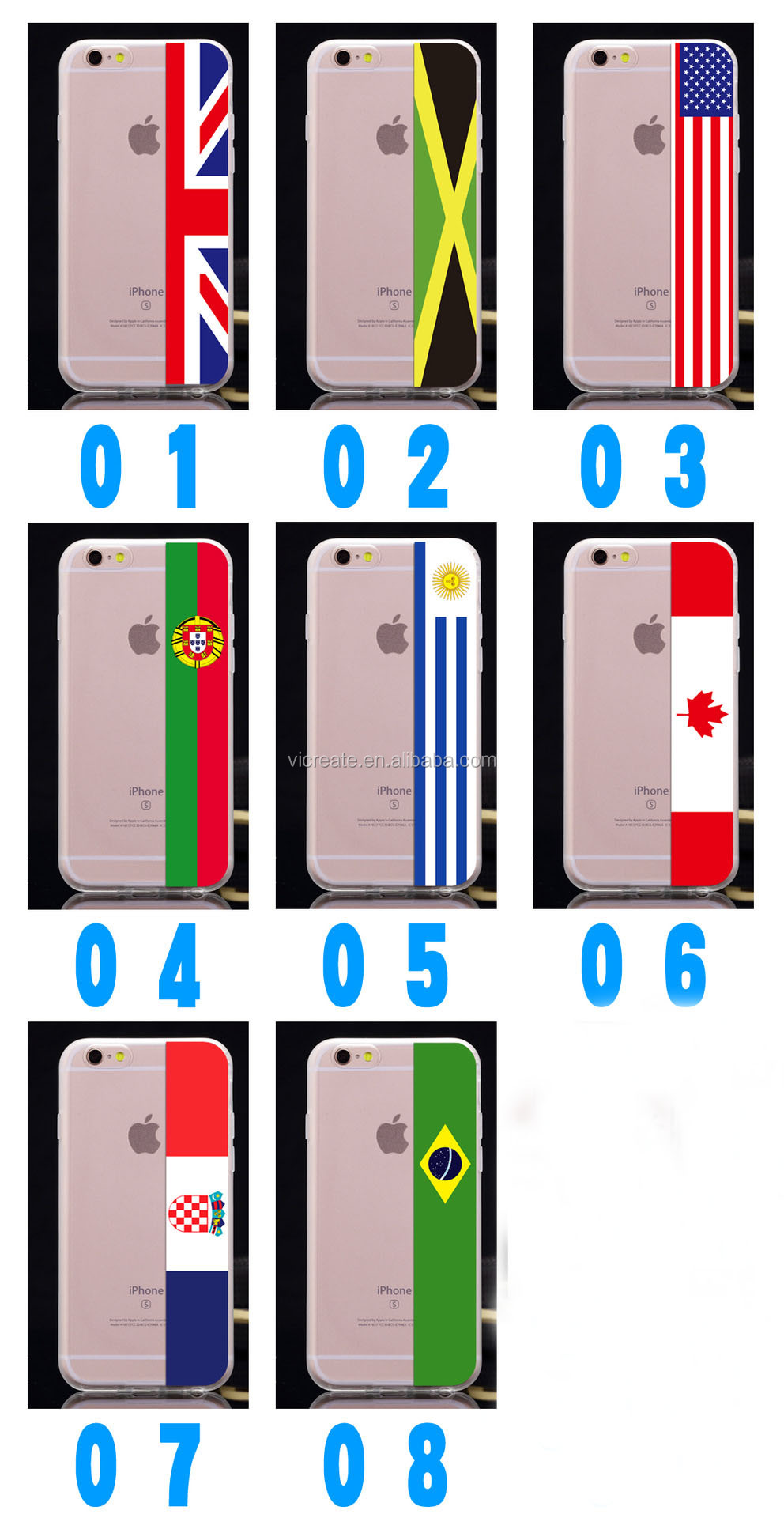 National Flag Case Cover For IPhone 5 6 Plus Mobile Back Case Cover Accept Customer OEM Design Pattern