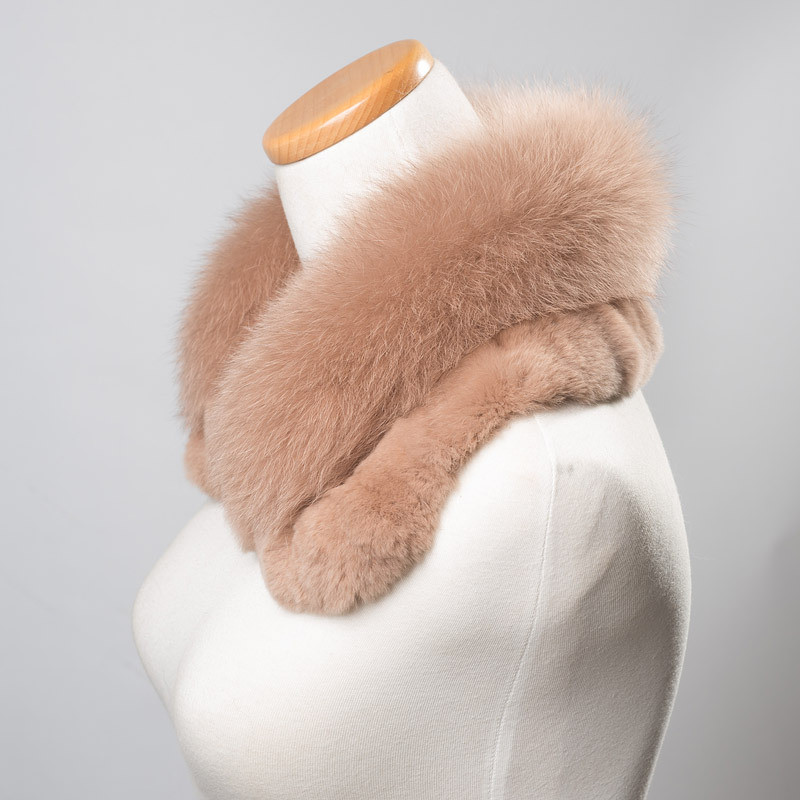 Elegant Fur Collar Fox Fur Trim Scarf Collar Custom